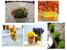 Fresh ideas I pulled for easy & creative centerpieces and/or table decor for Spring.