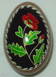 ukrainian easter egg dyes  | Ukrainian Easter Egg Pysanka/Pysanky Poppy Goose Egg