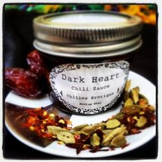 Dark Heart Chili Sauces, Chillies Erotique with Cayenne, Rosewater, & Cardamom