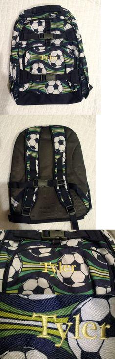 Backpacks and Bags 57882: New Pottery Barn Kids Boys Large Backpack Monogram Tyler Soccer -> BUY IT NOW ONLY: $39 on eBay!