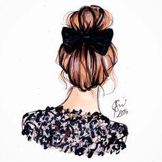 """좋아요 3,705개, 댓글 34개 - Instagram의 Melsy's Illustrations ©(@melsysillustrations)님: """"Monday Bunday who else is sporting a bun today?!#fashionillustration #fashionblogger #fashion…"""""""
