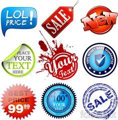 Creative merchandising label sticker vector