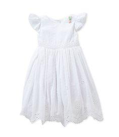 Laura Ashley 2T-6X Scalloped-Hem Eyelet Dress | Dillards.com