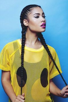 two braids with weave - Google Search