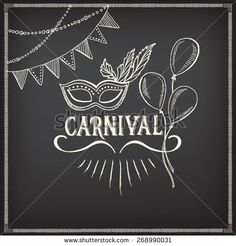 carnival icons  sketch design.
