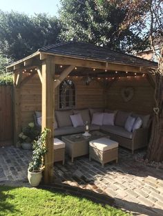 Best Ideas For Backyard Pergola Ideas Patio Design Decor Cozy Backyard, Backyard Seating, Stone Backyard, Garden Seating Areas, Backyard Sitting Areas, Backyard Retreat, Corner Garden Seating, Desert Backyard, Backyard Storage