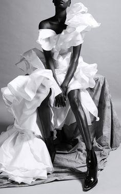 Get inspired and discover Maticevski trunkshow! Shop the latest Maticevski collection at Moda Operandi. Plain Wedding Dress, Wedding Black, Wedding Dresses, Plunge Dress, Taffeta Dress, Swing Skirt, Latest Fashion Clothes, Mom Fashion, Mom Style