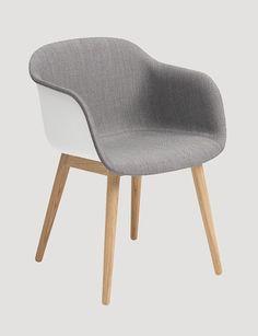 FIBER ARMCHAIR FRONT UPHOLSTERY - Modern Scandinavian Design Shell Chair by Muuto - Muuto