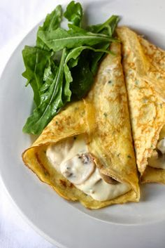 Mushroom and Chicken Crepes recipe - just like La Madeliene.