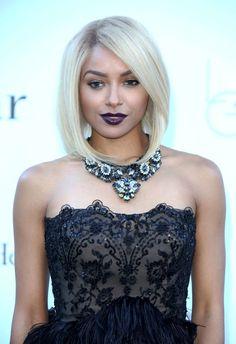 Kat Graham Rocks Blond Hair and Purple Lips at the 2013 amfAR Gala (PHOTOS)