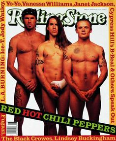 Rolling Stone Cover of Red Hot Chili Peppers (photo by Mark Seliger) June 1992