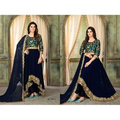 Twisha Aanaya 67000 Series Twisha Georgette Embroidered Party Wear Occasionally Traditional Attractive Look High Low Style Festive Anarkali Dress Single Wholesale Supplier from Surat - Full Catalog Price - INR Anarkali Dress, Single Piece, Wedding Wear, Cotton Saree, Party Wear, Salwar Suits, Party Fashion, Silk Satin, Designer Dresses