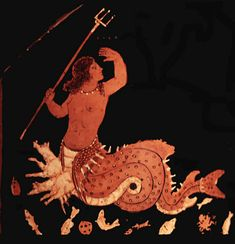 Mermaid Monday continues this week with another mythical legend of love gone wrong. How does a beautiful young mermaid, or naiad, turn into a horrible monster? Greek Animals, Greek Sea, Greek Pantheon, Ancient Greek Art, Greek Pottery, Merfolk, Sea Monsters, Greek Mythology, Fantastic Beasts