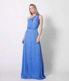 Maxi Φόρεμα με Έναν ώμο Lurex - Μπλε Ρουά One Shoulder, Spring Summer, Formal Dresses, Fashion, Dresses For Formal, Moda, Fashion Styles, Fasion, Gowns