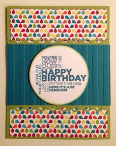 Stampin Up Birthday Card on DSP
