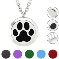 Find More Pendants Information about Free With Chain as Gift!Cat Dog Paw necklace  30mm  316L Stainless Steel Aromatherapy  Essential Oil Diffuser Necklace,High Quality oil diffuser necklace,China stainless steel aromatherapy necklace Suppliers, Cheap stainless steel diffuser necklace from URS Jewelry on Aliexpress.com