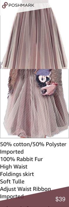 🆕New item!Women's tutu ballet sheer mesh skirt🌸 Sheer ruffle mash brown tulle overlay. Size medium. High waist. Soft tulle material 🎀🎀🎀🎀 Skirts Midi
