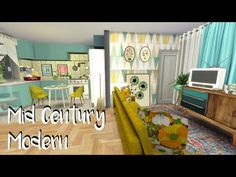 The Sims 4: Speed Build: Mid Century Home - YouTube