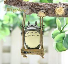 Schaukel Totoro Figuren Fairy Gartenzubehör von DIYgardener auf Etsy