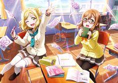 Mari x hanamaru Chica Gato Neko Anime, Anime Girl Neko, Anime Love, Mari Ohara, Anime Stars, Anime School Girl, Live Girls, Sunset Wallpaper, Love Live