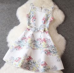 Printed Bow Dress