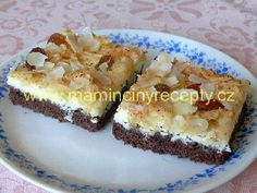 Kakaové řezy s tvarohem a s jablky Sweet Cakes, French Toast, Cheesecake, Pie, Cooking, Breakfast, Recipes, Torte, Kitchen