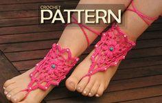 Crochet Barefoot Sandals Pattern Free | Crochet barefoot sandals pattern