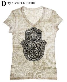 Look for beautiful tee at https://www.etsy.com/listing/152231373/plus-size-woman-hamsa-hand-print-top-t