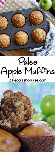 Simple paleo friendly apple muffins that are perfect as a snack or dessert. They're super easy to quickly cook up and also taste amazing.