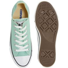 71fdb07bef5a20 Converse All Star Seasonal Mint Ox Trainers ( 70) ❤ liked on Polyvore  featuring shoes