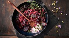 Punajuuriohratto - Yhteishyvä Feta, Risotto, Vegan Recipes, Vegane Rezepte, Vegetarian Recipes