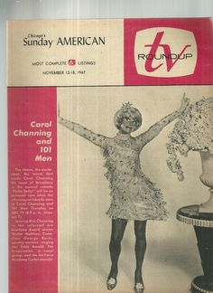 Chicago's Sunday American TV Roundup Carol Channing and 101 Men November 12-18 1967