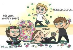 cartoon one direction.