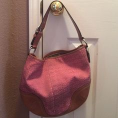 Pink Authentic Coach Bag Needs TLC Pink Authentic Coach Bag Coach Bags Shoulder Bags