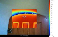 Control of the correctness embed woodwork using a thermal imaging camera