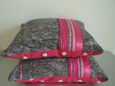 Kussen van verhuisdeken Moving Blankets, Homemade, Projects, Crafts, House, Ideas, Accessories, Craft Work, Log Projects
