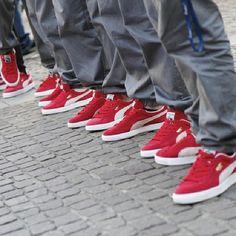 puma classic suede red