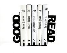 Unique Metal Bookends  Good read  // by DesignAtelierArticle