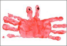 Handprint Calendar: Crab   Christmas Your Way