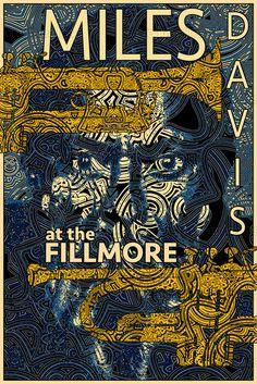 Miles Davis at the Fillmore jazz poster