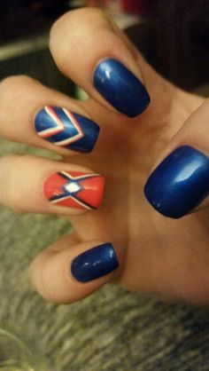 Okc thunder nail design nail designs pinterest thunder thunder up nails prinsesfo Image collections