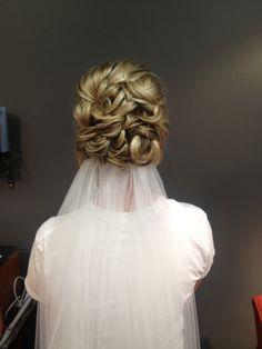 My wedding hair :) #wedding #weddinghair