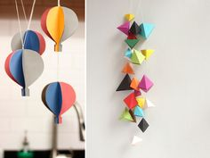 30 ideas para decorar interiores con Origami