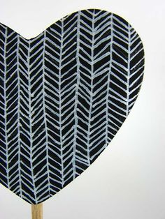 pattern heart on a canvas would be cute! Pretty Patterns, Beautiful Patterns, Pattern Art, Pattern Design, Black Pattern, Painting Inspiration, Design Inspiration, Folder Design, Illustrations