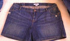 NWoT!!! CUTE!! Liz Lange Maternity Denim Shorts!. Sz XXL!!!!