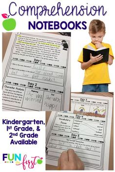 These Comprehension Notebooks are the perfect addition to any K-2 classroom.  They provide the students with fluency practice and a short comprehension lesson each day.
