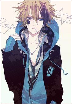 anime heterochromia / odd eyes grey blue Haku