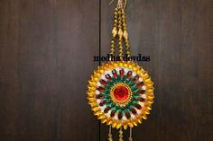 Recycled CD kundan work