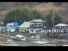 唐丹津波小白浜の湾映像2011年3月11日