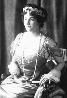 Princess Marie Bonaparte (1882-1962)  wearing The Bonaparte Olive Wreath Tiara